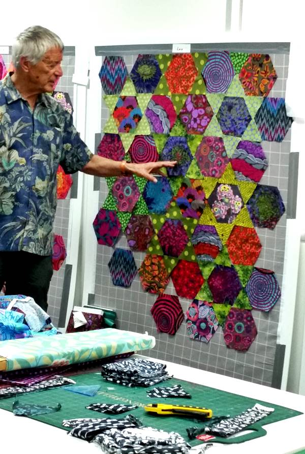 Always learning, a class with Kaffe Fassett