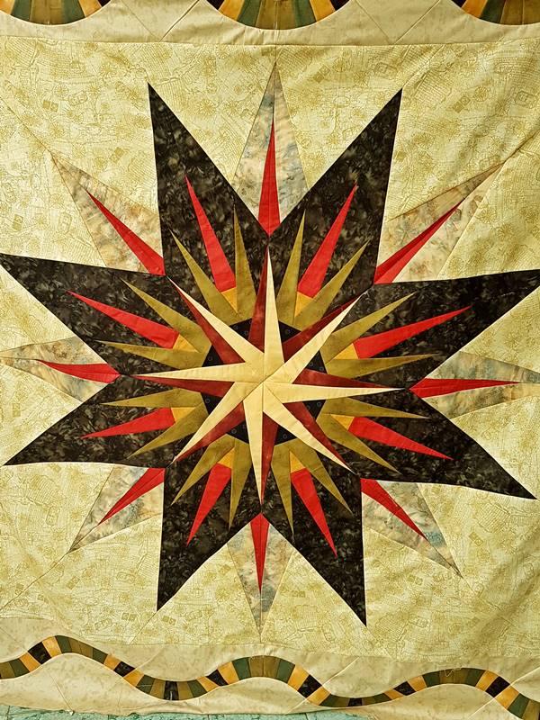 Vintage Compass quilt top