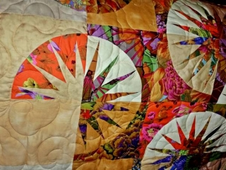 Close up of Japanese Fan - Quiltworx pattern
