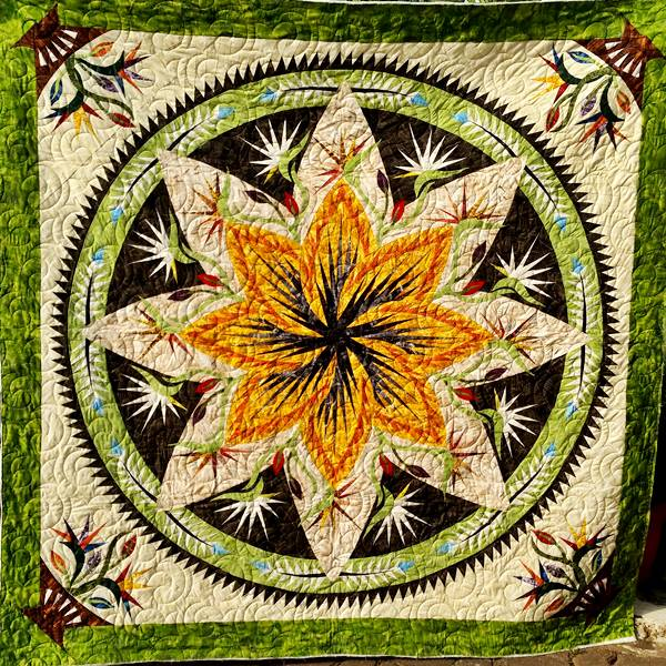 Paradise in Leaves - pola dengan Quiltworx